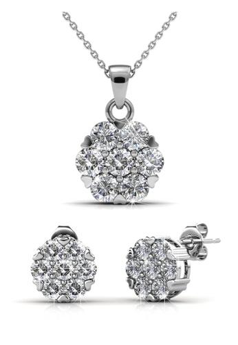 Her Jewellery silver Swarovski® Crystals - Brilliance Set (18K White Gold Plated) Her Jewellery HE581AC0R9UMMY_1