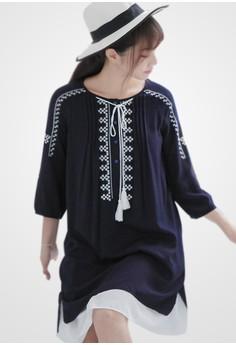 Totem Tassel Wonders High Low Dress