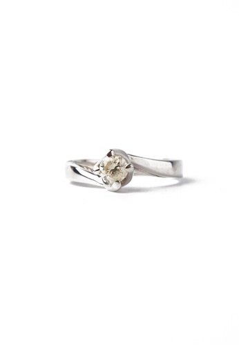 CEBUANA LHUILLIER JEWELRY silver 18 Karat White Gold Lady Ring With Diamond FF91AACDB4F865GS_1