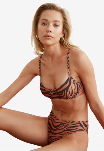 Trendyol multi Tiger Print Bikini Top 11B1EUS70524E7GS_1