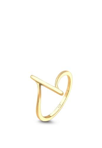 ELLI GERMANY gold Elli Germany Ring Band Ring Geo Basic Minimal 925 Silver Plated E169EAC70167FEGS_1