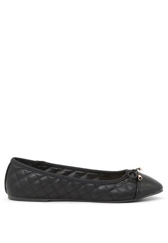 London Rag black Black Lined Petunia Ballerina Flats SH1692 9A3ABSH35B9693GS_1