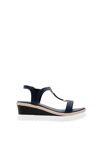 SEMBONIA blue Women Synthetic Leather Wedges 4F39BSHBCE9EA0GS_1