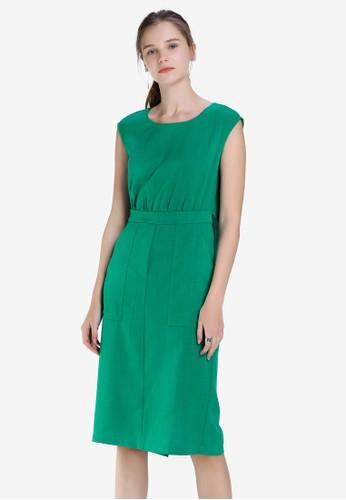 Hopeshow green Sleeveless 1 Piece Dress 77985AAD071F36GS_1