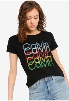0138799be6 Calvin Klein black Multi Color Logo Tee - Calvin Klein Jeans  2649FAAC4A3A3AGS_1