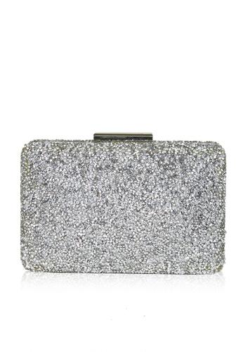 Dazz silver Gem Evening Clutch - Silver DA408AC0S5ODMY_1