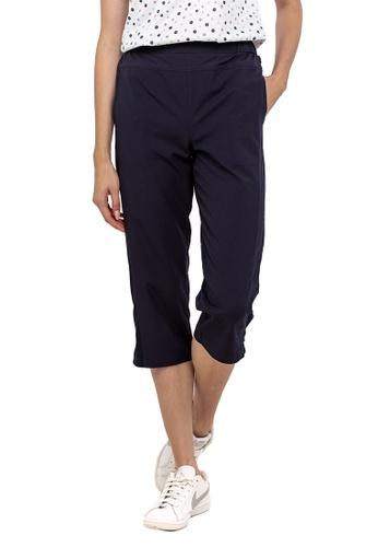 Huitieme 海軍藍色 HUITIÈME 七分褲寬鬆直筒女褲子中褲 深蓝 E9312AAC1E096FGS_1