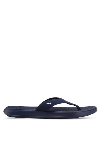 Nike white and navy Men's Nike Ultra Celso Thong Sandals NI126SH0STR5MY_1