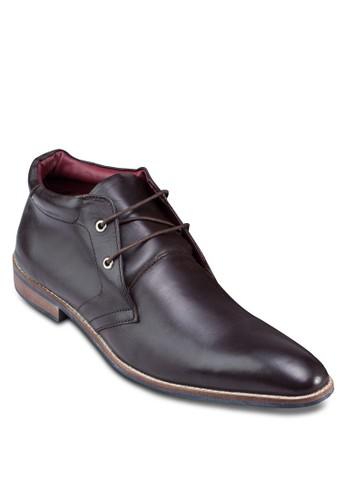尖頭繫帶皮革esprit童裝門市踝靴, 鞋, 鞋