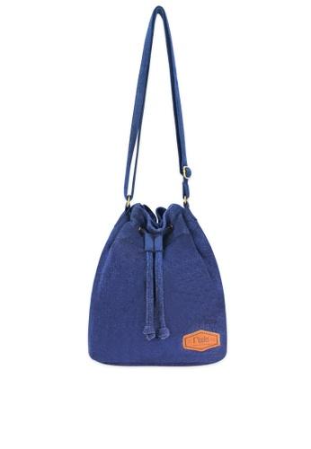 Ripples blue Chloe Basic Bucket Sling Bag 3D465ACA4E4CC3GS_1