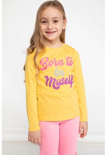 DeFacto yellow Long Sleeve Round Neck Printed T-Shirt D0884KA94E7DD2GS_1
