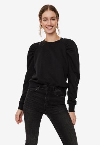 Vero Moda black Natalie Raglan Sleeve Sweatshirt F9B4DAA4ACAE63GS_1