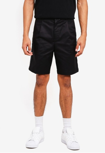 AT TWENTY black Tonal Piping Chino Shorts 84693AA46C849AGS_1