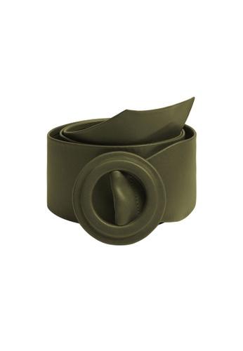 Mango green Rounded Buckle Belt EF8EFAC0578B33GS_1