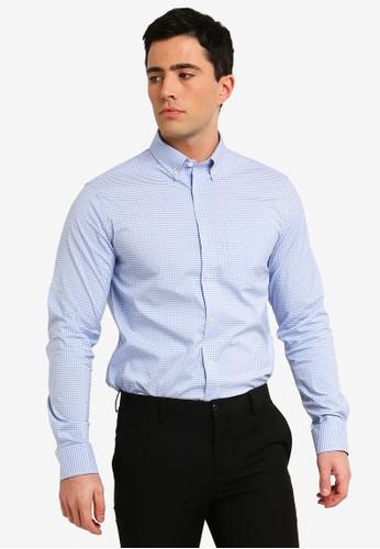 Banana Republic blue Two Color Slim Fit Shirt 1D4A8AAC63A2AFGS_1