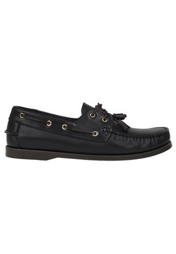 Tomaz black Tomaz C999A Leather Boat Shoes (Black) 42919SH2A15C04GS_1