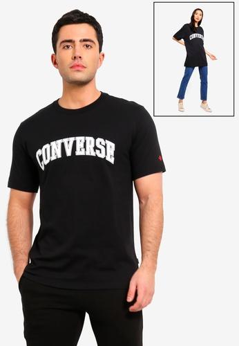 a3b3834f14f9 Converse black Converse All Star Collegiate Text Short Sleeve Tee  07E69AA1935048GS 1