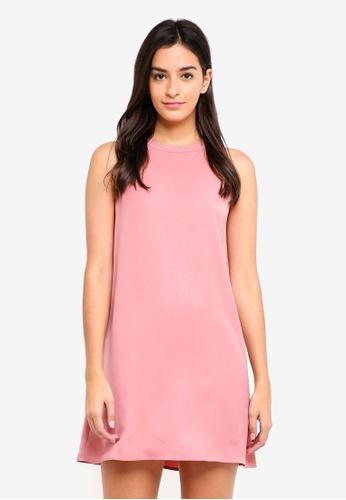 Something Borrowed pink Cut In Sleeveless Swing Dress 68B1BAA34A69F2GS_1