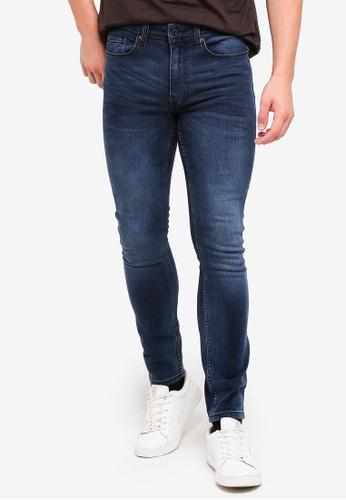 Burton Menswear London 海軍藍色 緊身牛仔褲 13D27AA2630E0CGS_1