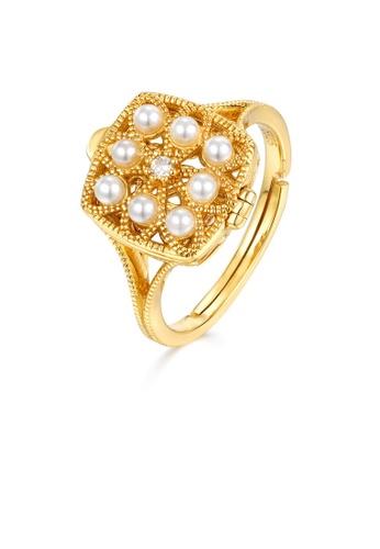 SUNSET gold Premium 9K Gold Pearl Ring 4E74DAC8C9E9E9GS_1