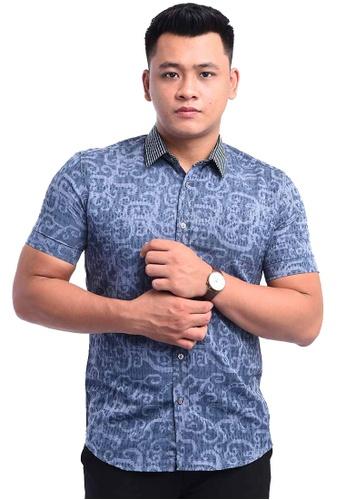 UA BOUTIQUE grey Shirt Batik RBS13-061 (Grey) 0BC41AAEBD7547GS_1