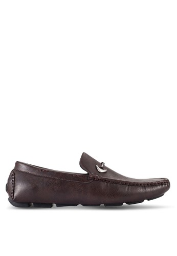 UniqTee brown Driving Moccasins With Hardware Detail UN097SH85RQKMY_1