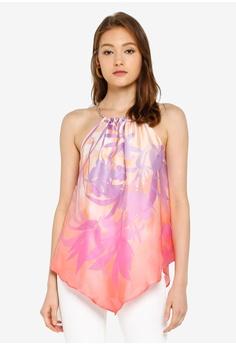 caacd042887f56 River Island pink Kylie Palm Halter Top C0BA6AA9513133GS_1