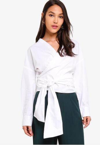ZALORA 白色 長袖上衣 29F0EAA5A4EE0BGS_1