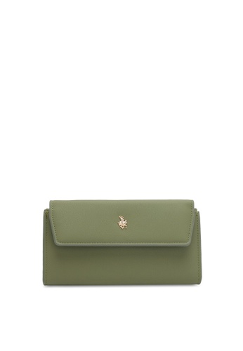 Swiss Polo green Plain Long Wallet 379ACAC295112FGS_1