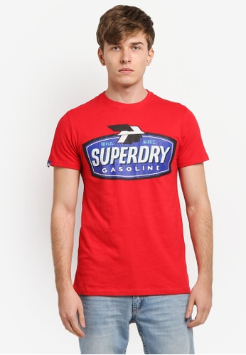Superdry red Reworked Classic Tee SU137AA0SI1AMY_1