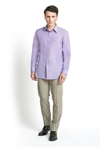 Gay Giano purple Cotton Dress Shirt 1843BAA932A51DGS_1