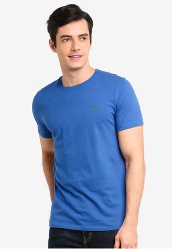 Abercrombie & Fitch blue Pop Icon Crew T-Shirt 8DB6BAA3D6C4F9GS_1