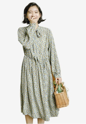 Shopsfashion green Polka Dot Midi Dress DF3C2AA1D08559GS_1