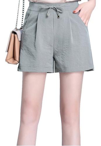 Twenty Eight Shoes grey VANSA Icy Wide-leg Shorts VCW-St8023 4ED1AAABEB96A5GS_1