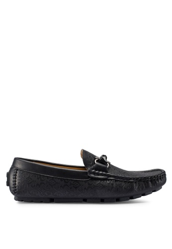 Carlton London black Slip On Loafers FBC96SHF75CA2AGS_1