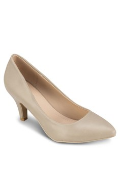 Lucy Pointed Front Mid Heels