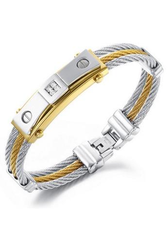 YOUNIQ silver YOUNIQ Full Steel Line Bracelet for Men (Silver) 45382AC6AACEFCGS_1