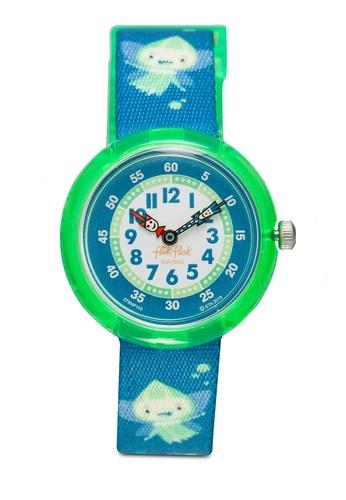 Flik Flak green Glowlins Watch 4BDF8KC1E93A0CGS_1