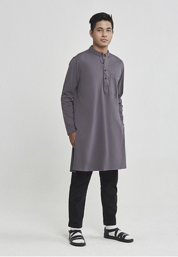 ANDY SULAIMAN 灰色 男士开衫衬衫 6902BAAC5187C4GS_1