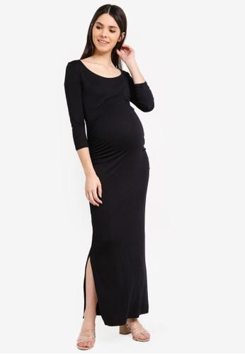 Envie De Fraise black Maternity Donna Long Sleeve Dress AE2DBAA71EBC7BGS_1