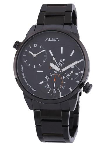 Alba black Jam Tangan Pria Alba Original Garansi Resmi Strap Stainless Steel Black A2A001 A2A001X1 Black 30C9BACB46476FGS_1
