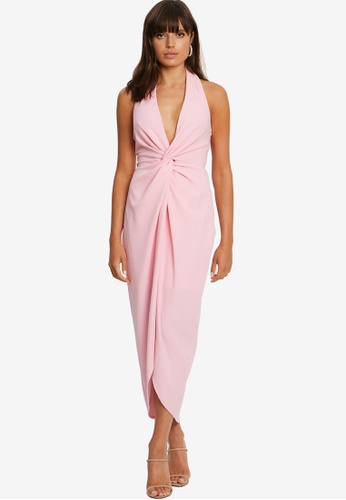 Chancery pink Tomeka Halter Midi Dress 1CF5DAAD2E995FGS_1