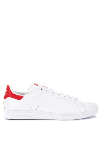 adidas white and red adidas originals stan smith 47D04SH0FBEF1EGS_1
