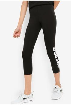 5a6b43745e77 Nike black Women's Nike Club Corp Palm Leggings 65832AA707ACD9GS_1