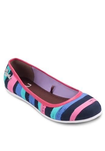 Mandy 條紋平底鞋, esprit 旺角女鞋, 鞋