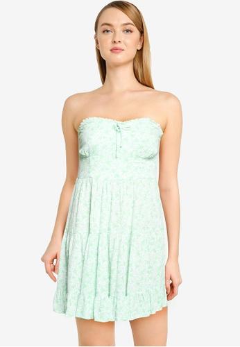 Supre green Savannah Tiered Bustier Dress 75BD6AA6F61CFDGS_1
