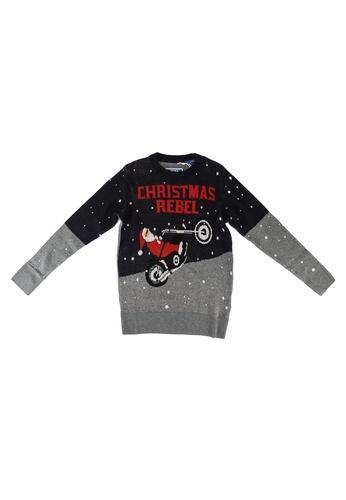 Jack & Jones black Craymas Knit Sweater 5269EKA2F8AE31GS_1