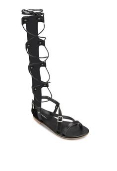 高筒多帶羅馬平底涼鞋