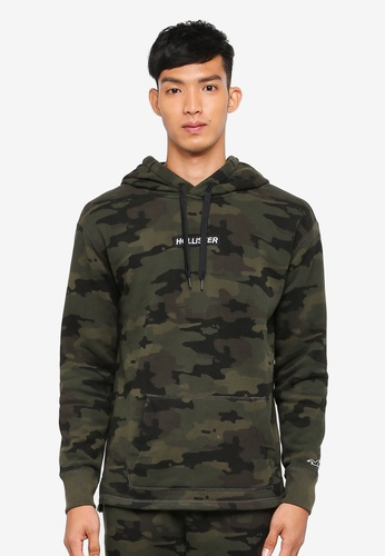 Hollister green Brand Graphic Hoodie EC28EAA2C0F0C2GS_1