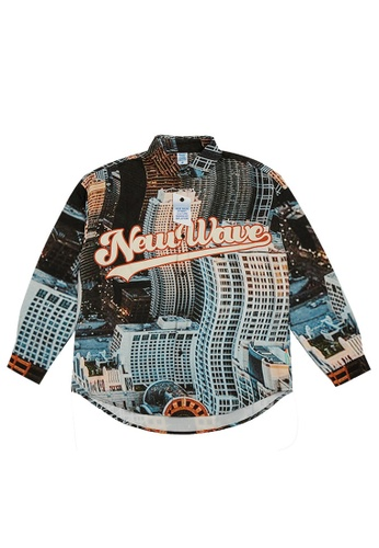 Twenty Eight Shoes Distorted City Printed Long Shirt 7009W21 E516AAACB680D7GS_1